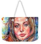 Sophia Loren Painting Weekender Tote Bag
