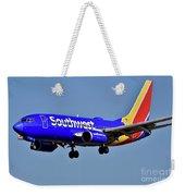 Southwest Airlines Airplane In Flight Weekender Tote Bag