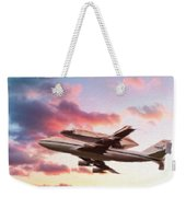 Space Shuttle Discovery Flies Off Into Retirement Weekender Tote Bag