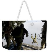 Special Operations Jumpers Exit A C-130 Weekender Tote Bag