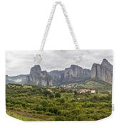 Spectacular Meteora Rock Formations Weekender Tote Bag