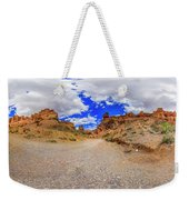Spherical Panorama From A Canyon Charyn Weekender Tote Bag