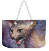 Sphynx Cat Painting Weekender Tote Bag