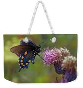 Spicebush Swallowtail On Bull Thistle Weekender Tote Bag