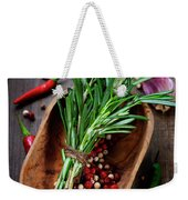 Spices On A Wooden Board Weekender Tote Bag