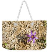 Spring Sand Crocus Flower Weekender Tote Bag