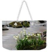 Spring Snowflake Weekender Tote Bag