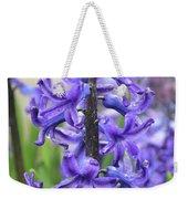 Spring Time With Blooming Hyacinth Flowers In A Garden Weekender Tote Bag