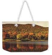 Squantz Pond In Autumn Weekender Tote Bag