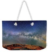 Starry Night Over Mesa Arch Weekender Tote Bag