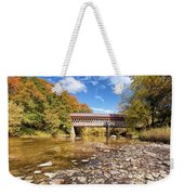 State Road Covered Bridge Weekender Tote Bag