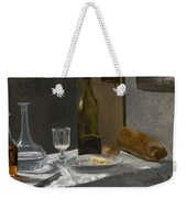 Still Life With Bottle Carafe Bread And Wine Weekender Tote Bag