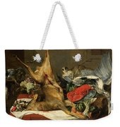 Still Life With Dead Game, A Monkey, A Parrot, And A Dog Weekender Tote Bag