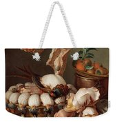 Still Life With Dressed Game, Meat And Fruit Weekender Tote Bag
