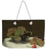 Still Life With Grapes And A Carnation Weekender Tote Bag