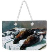 Still Life With Pheasants And Plovers Weekender Tote Bag