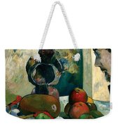 Still Life With Profile Of Laval Weekender Tote Bag
