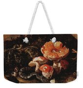 Still Life With Serpents, Fly Agarics And Thistles Weekender Tote Bag