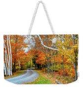 Stone Autumn Road Weekender Tote Bag