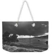 Storm Brewing Over The Mud Flats Weekender Tote Bag
