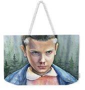 Stranger Things Eleven Portrait Weekender Tote Bag