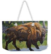 Strutting Along, Yellowstone Weekender Tote Bag by Erin Fickert-Rowland