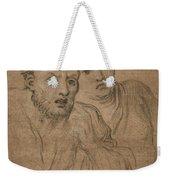 Studies Of Two Male Heads Weekender Tote Bag