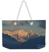 Stunning Landscape In The Italian Alps With A Cloudy Sky  Weekender Tote Bag