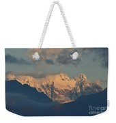 Stunning Landscape View Of The Italian Alps  Weekender Tote Bag
