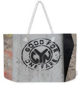 Subway Token Weekender Tote Bag