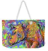 Sumatran Rhino Weekender Tote Bag