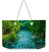 Summer Stream Weekender Tote Bag