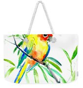 Sun Parakeet Weekender Tote Bag