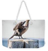Sunbathing Cormorant Weekender Tote Bag