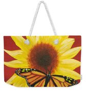 Sunflower Monarch Weekender Tote Bag
