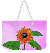 Illustration Of A Sunflower On A Pink Background Weekender Tote Bag