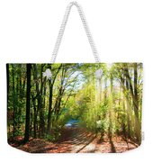 Sunny Autumn Path Weekender Tote Bag