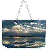 Sunrise At The Dead Sea Weekender Tote Bag by Arik Baltinester