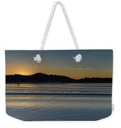 Sunrise Waterscape And Silhouettes Weekender Tote Bag