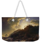 Sunset After A Storm On The Coast Of Sicily Weekender Tote Bag