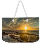 Sunset At Thor's Well Weekender Tote Bag