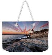 Sunset, Castle Hill Lighthouse  Weekender Tote Bag