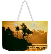 Sunset In Atiha, Moorea, French Polynesia Weekender Tote Bag