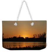 Sunset On The Edge Weekender Tote Bag