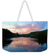 Sunset Over A Lake Weekender Tote Bag