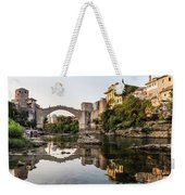 Sunset Over The Famous Mostar Bridge Weekender Tote Bag