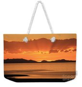 Sunset Over The Great Salt Lake Weekender Tote Bag