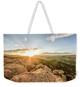 Sunset Over The Mountains Of Flaggstaff Road In Boulder, Colorad Weekender Tote Bag