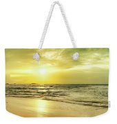 Sunset Over The Sea. Panorama Weekender Tote Bag