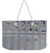 Supermarket Roof And Many Cars In Parking, Viewed From Above. Weekender Tote Bag